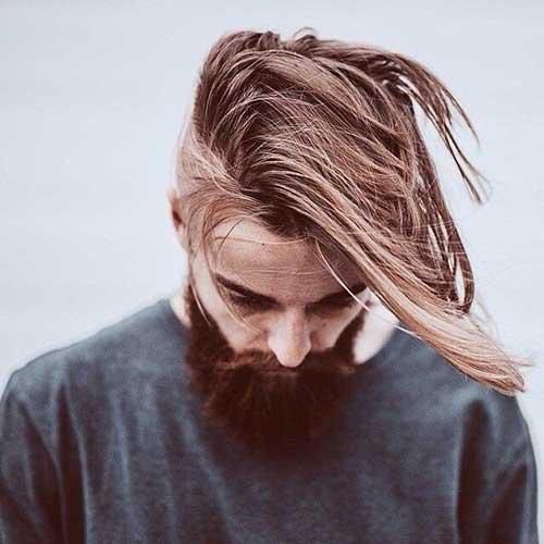 Long Hair Mens Side Shaved Haircuts