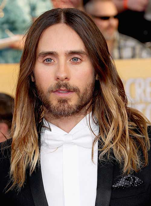 Long Ombre Hair Color for Men