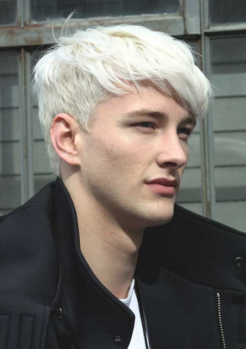 Cool Male White Color Hairstyles