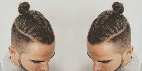 Men Braided Bun Hair