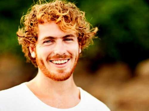 Men Curly Ginger Hair