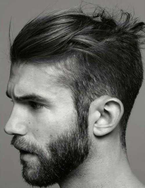Men Faded Long Top Haircuts