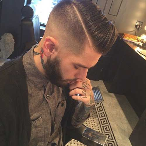 Razor Part Men Haircut
