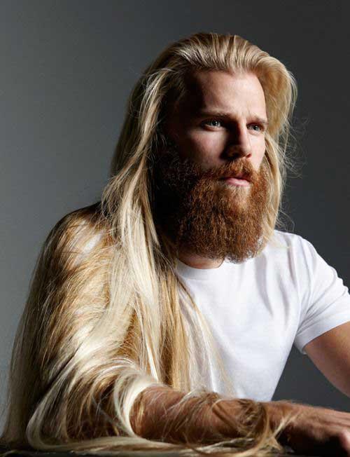 Men Long Blonde Hairstyles