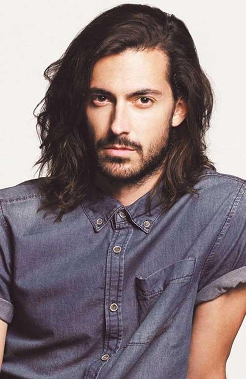 Men Long Dark Hairstyles
