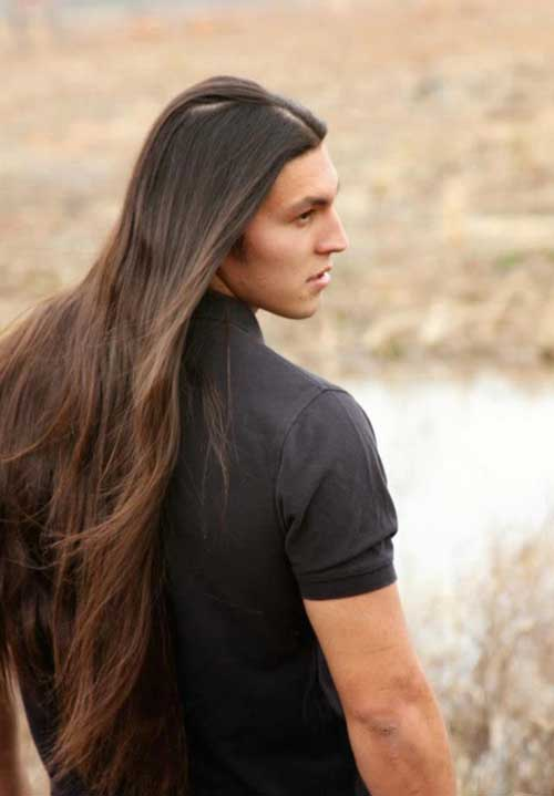 Men Very Long Hair