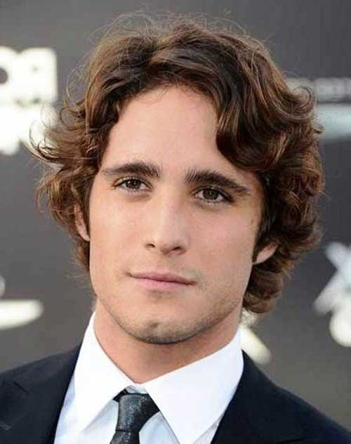 Men Medium Curly Business Hairstyles