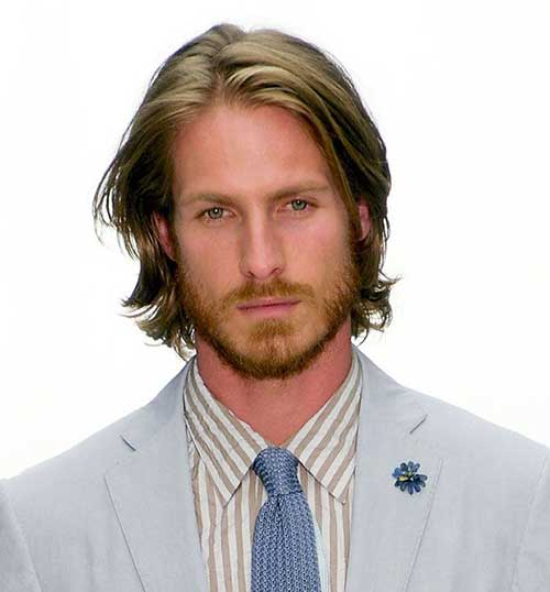 Cool Men Medium Straight Hairstyles