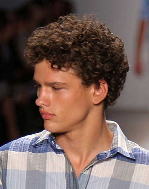Cool Men Short Curly Hairstyle