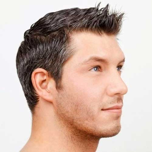 Men Short Simple Hairstyles 2014