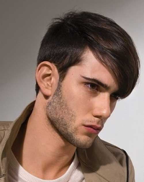 Men Straight Hairstyle 2014