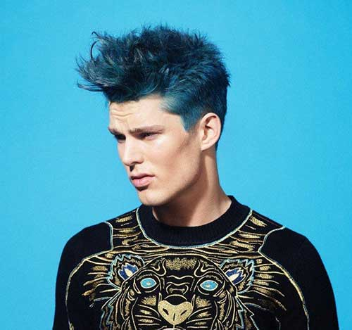 15 New Guy with Blue Hair | Mens Hairstyles 2018