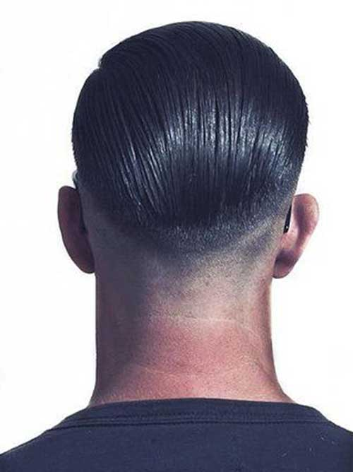 Mens Faded Cut Hairstyles From Back