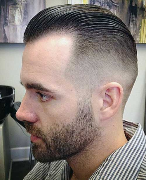 Mens Faded Hair Slicked Back Styles