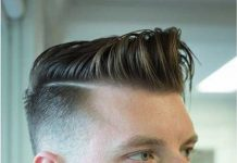 Mens Side Pompadour Hairstyles for Fine Straight Hair