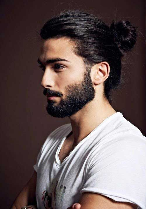 Mens Ponytail Hairstyles Long Face