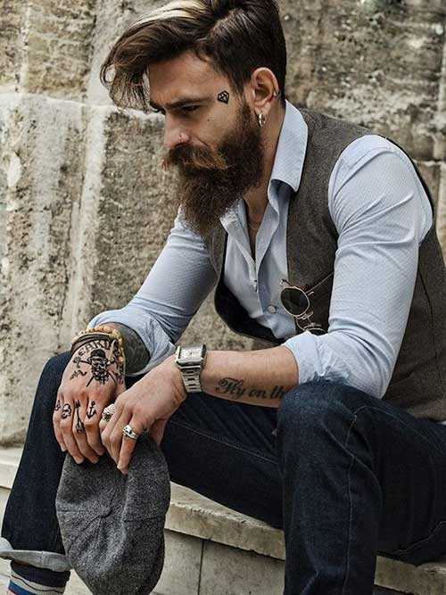 Mens Short Side Long Top Hair Trends