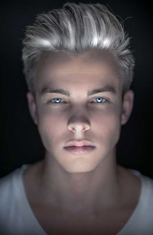 Cool Platinum Hair Color for Guys