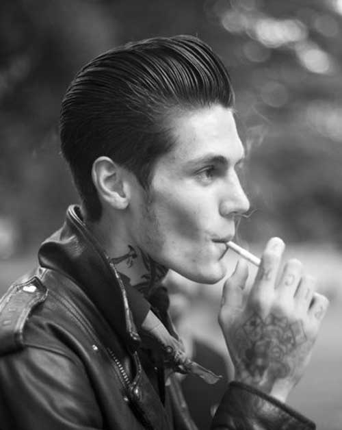 Rockabilly Slicked Back Men Hairstyle