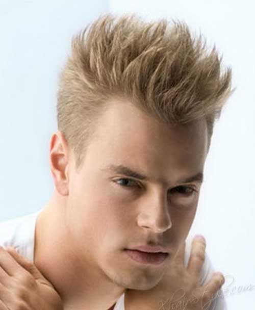 Short Blonde Spiky Hairstyles Men