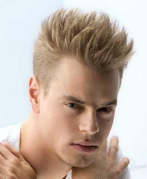Short Blonde Spiky Hairstyles Men