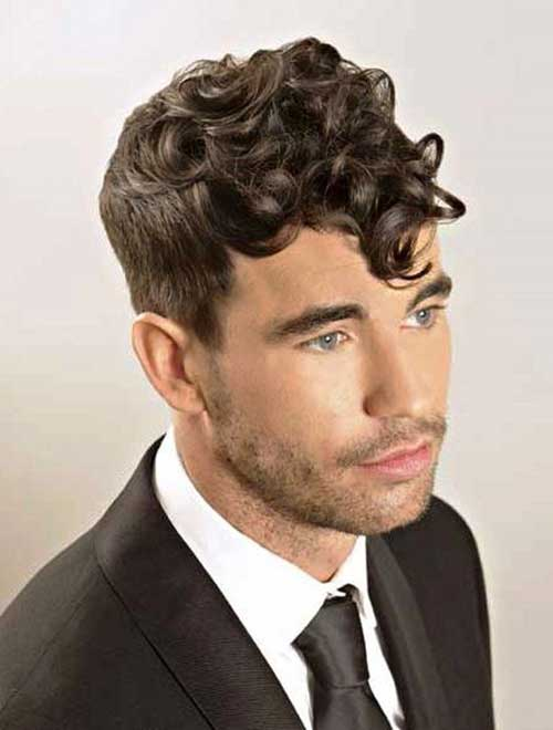 Short Side Curly Hairstyles for Men
