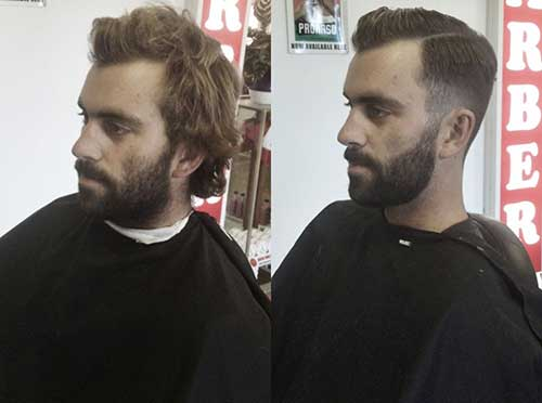 Cool Short Side and Back Hair Style Men