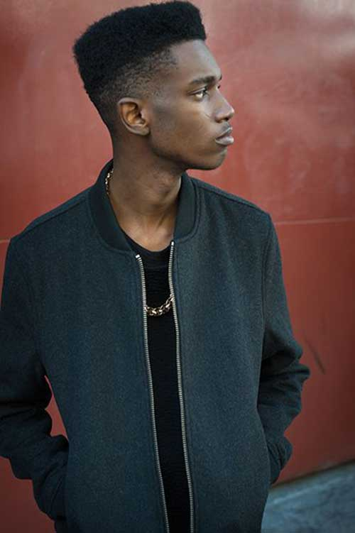 Short Side Tapered Hair for Black Men