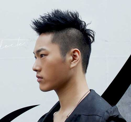 Short Sides Asian Men Hairstyles