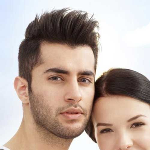 Short Sides Spiky Hairstyles Men