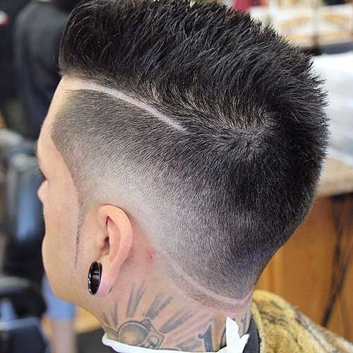 Short Spiky Undercut Hairstyles for Men