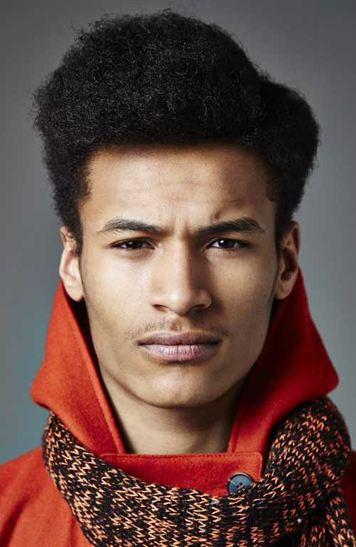 Side Apart Afro Hairstyles for Black Men