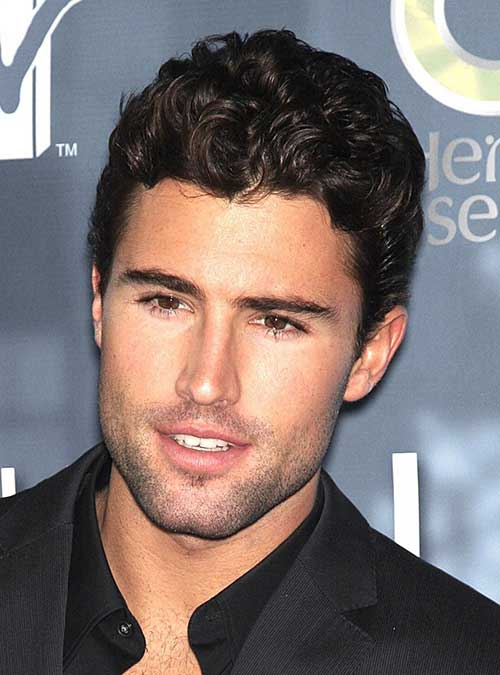 Simple Curly Hairstyles for Men