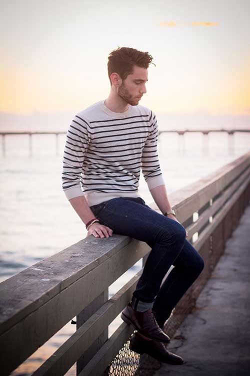 Street Style Simple Hairstyles for Men