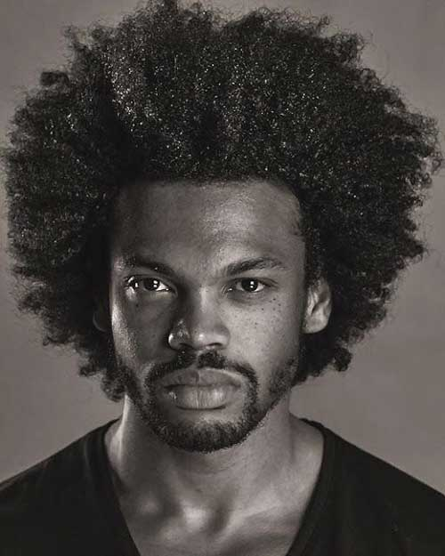 Thick Afro Hairstyles for Black Men