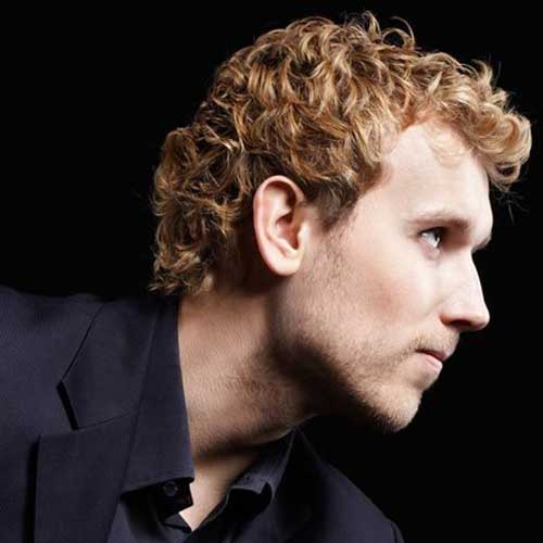 Thick Curly Blonde Hairstyles for Guys