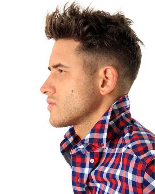 Thick Hair Men Side View
