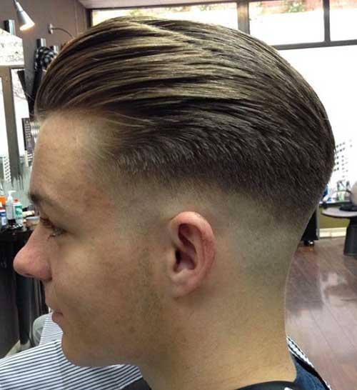 Undercut Fade Slicked Back Men Hair