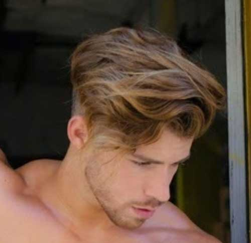 Wavy Hairstyles Undercut for Men