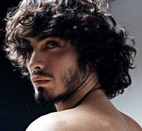 2016 Mens Long Curly Hair
