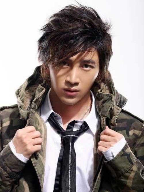 Asian Men Medium Cut Straight Hairstyles