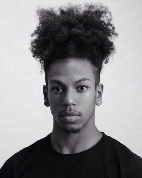 Black Men New Bun Hairstyles 2015