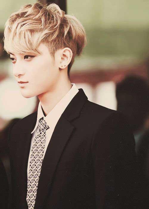 Best Blonde Hairstyle Men Asian