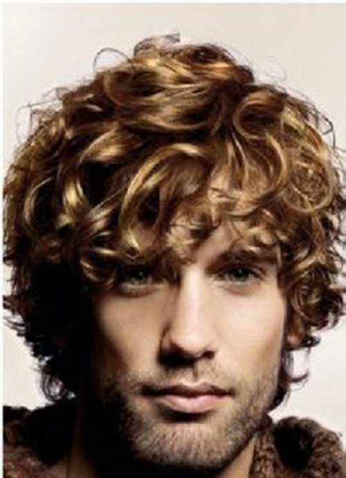 Blonde Hairstyle For Men With Thick Curly Hair