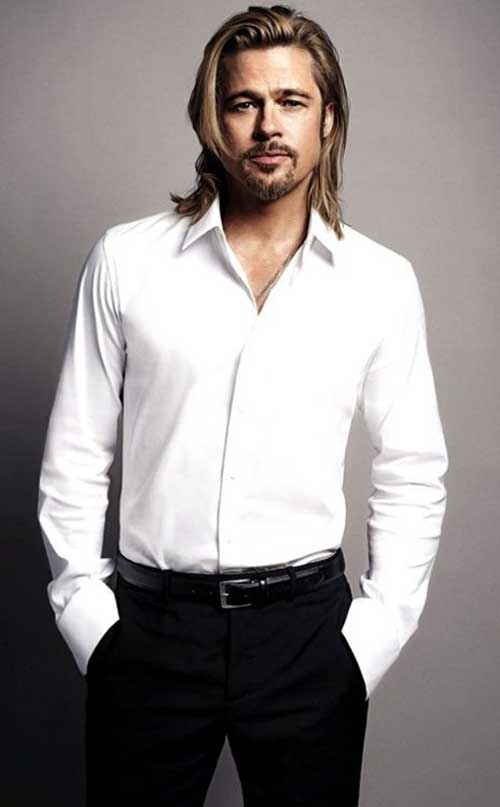 Brad Pitt Long Blonde Hair Styles