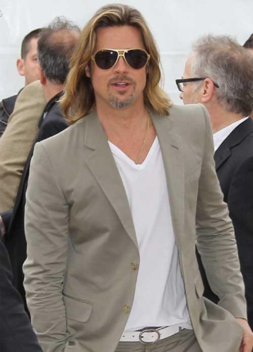 Brad Pitt Long Hairstyles