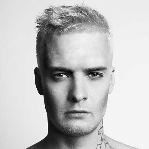Cool Men White Short Hair Cuts