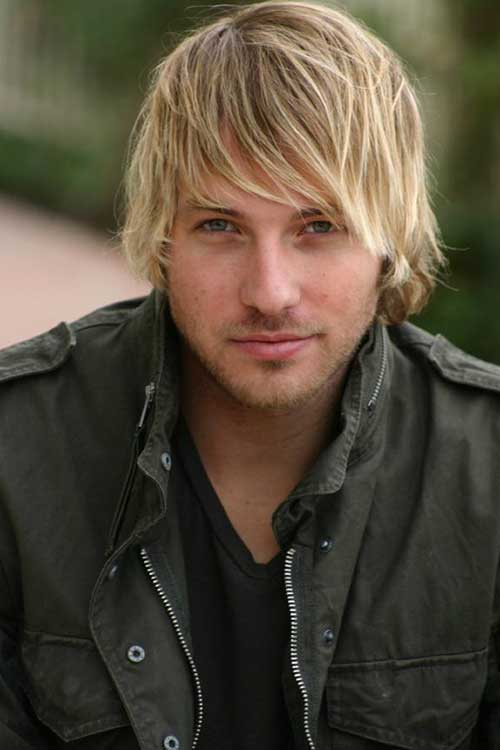 Cute Blonde Straight Hairstyles for Men