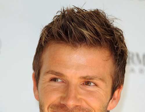 David Beckham Cool Hair 2014