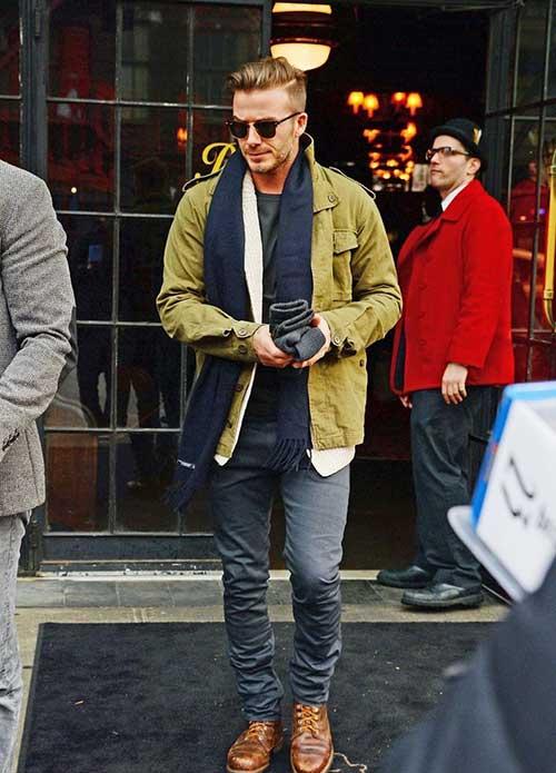 David Beckham Hair Color 2014